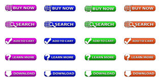 set of web buttons Stock Photo