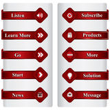 Set of web buttons Royalty Free Stock Photos