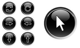 Set of web buttons stock illustration