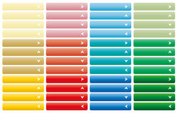 Set of web buttons with arrow. In color combination Stock Image