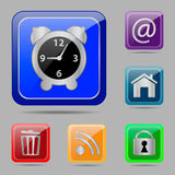 Set web buttons stock illustration