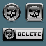 Set web buttons delete. EPS 10. Vector illustration Royalty Free Stock Images