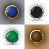 Set of web buttons. Royalty Free Stock Photography