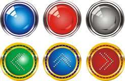 Set of web buttons with the index arrows Stock Images
