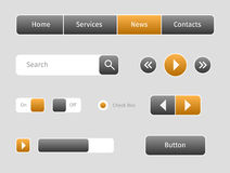 Set of web buttons with outlines Royalty Free Stock Photos