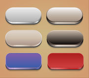 Set of web buttons. Oval web buttons with shadows. EPS10 Stock Photo