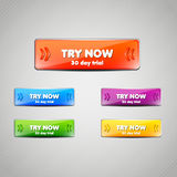 Set of Web buttons for website or app. Vector eps1. 0 Royalty Free Stock Photos