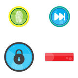 Set of web buttons. On a white background, Vector illustration Royalty Free Stock Photos