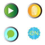 Set of web buttons. On a white background, Vector illustration Stock Images