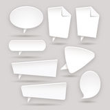 Set of Web color stickers - labels - tags - bubble Royalty Free Stock Image