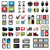 Set web-computer icons Stock Photo