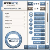 Set of web design elements Stock Image