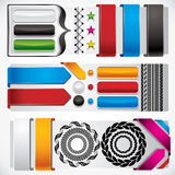 Set of web design elements. Set of web design elements – buttons, banners, borders, ribbons, stars and labels Stock Images