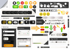 Set of web design elements Royalty Free Stock Photography