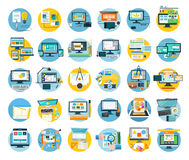Set of Web Design Icon Flat Concept Royalty Free Stock Images