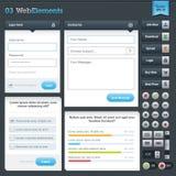 Set Web-Elemente Lizenzfreie Stockbilder
