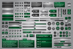 Set of web elements. Vector file added - easily customizable Royalty Free Stock Photos