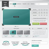 Set of web elements stock illustration