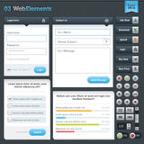 Set of web elements. Set of web forms and buttons for websites design Royalty Free Stock Images