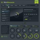 Set of web elements. Set of web design vector elements