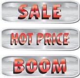 Set of web elements for ecommerce Stock Photo