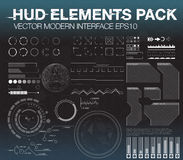 Set web elements in HUD style. Infographic elements. futuristic user interface HUD UI UX. Royalty Free Stock Photos