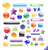 Set of web elements and icons. Stock Photo