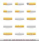 Set of web elements for menu buttons. Illustration set of web elements for menu buttons. Vector Royalty Free Stock Photo