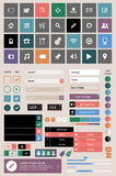Set of web elements. In modern flat design Stock Photography