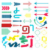 Set of web elements in modern material design style. Arrows Royalty Free Stock Photo