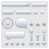 Set of web elements, vector illustration. Royalty Free Stock Image