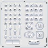 Set of web elements, vector illustration. Stock Image
