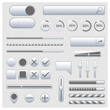 Set of web elements, vector illustration. Royalty Free Stock Images