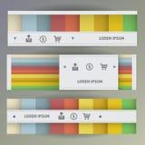 Set Web-Fahnen Stockbild