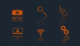 Set of 6 web flat icons. vector illustration