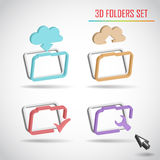 Set of web folder vector Stock Photo