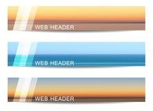 Set of web header or banner Stock Image