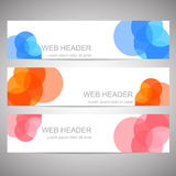 Set of web headers or banners Royalty Free Stock Photos