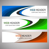 Set of web headers or banners Stock Photography