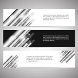 Set of web headers or banners Stock Image