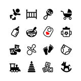 Set 16 web icon. Baby, suckling, child Royalty Free Stock Photos