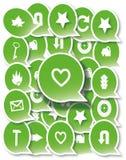 Set of web icons. Background of a set of web icons Royalty Free Stock Image