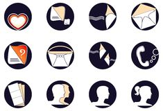 Set a web of icons Stock Photography