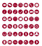 Set of Web icons. Set of icons for the Web in red colors Royalty Free Stock Images