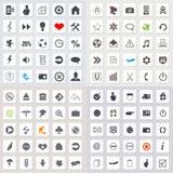 Set of web icons. Set of 100 web icons EPS 10 Royalty Free Stock Photography
