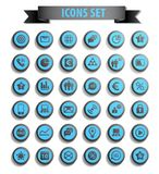 Set of web icons Stock Images