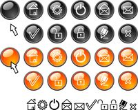 Set of web icons. Royalty Free Stock Image
