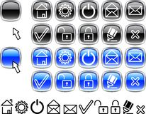 Set of web icons. Stock Photo
