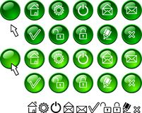 Set of web icons. Stock Photography