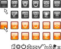 Set of web icons. Royalty Free Stock Photography